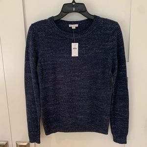 Gap Navy Heathered Crew Neck Sweater